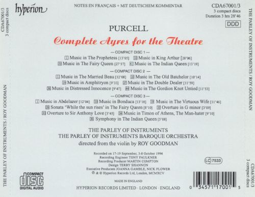 Purcell: Complete Ayres for the Theatre