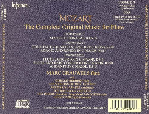 Mozart: Complete Music for Flute