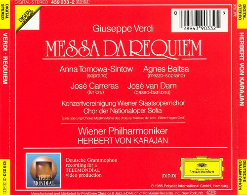 Verdi: Messa da Requiem [1984]