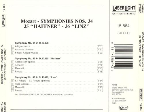 A Little Night Music, Vol. 3: Mozart - Symphonies Nos. 34, 35 (