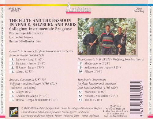 The Flute and the Bassoon in Venice, Salzburg and Paris