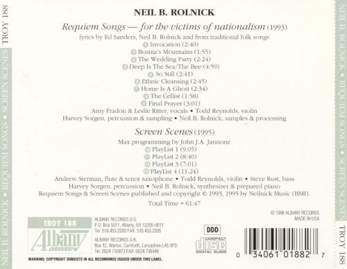 Neil B. Rolnick: Requiem Songs: for the victims of nationalism