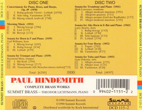 Hindemith: Complete Brass Works