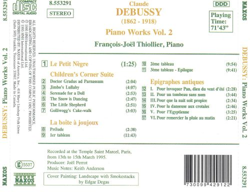 Debussy: Piano Works, Vol. 2