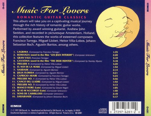 music for lovers romantic guitar classics various artists songs reviews credits allmusic. Black Bedroom Furniture Sets. Home Design Ideas