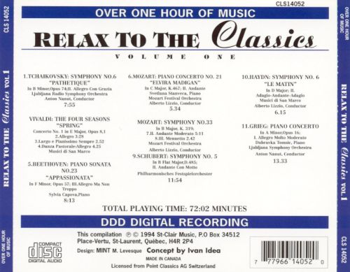 Relax to the Classics, Vol. 1