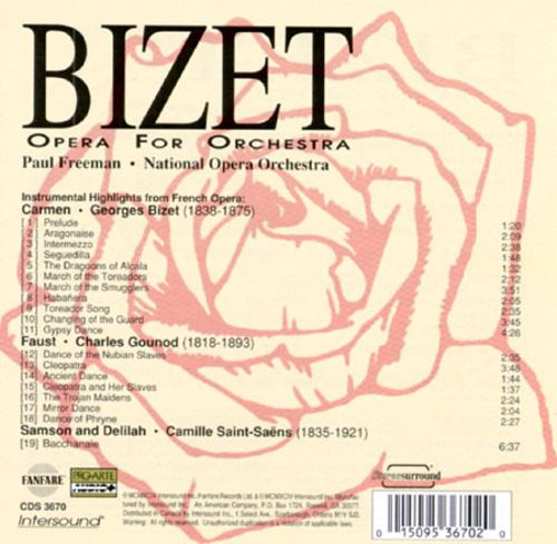 Bizet: Opera for Orchestra
