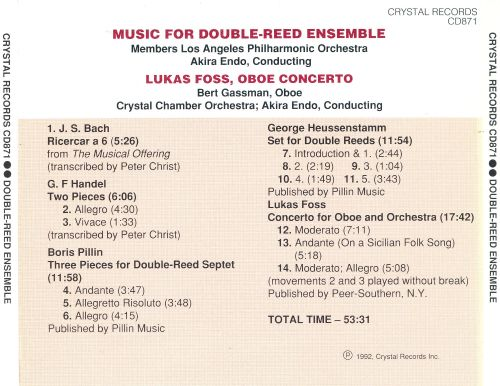 Oboes, English Horns, Bassoons, and Contrabassoons Play Music for Double-Reed Ensemble
