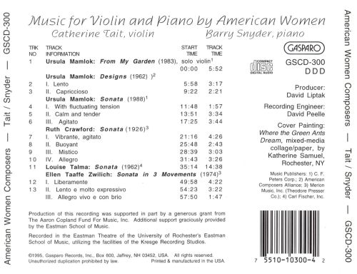 Music for Violin & Piano by American Women Composers