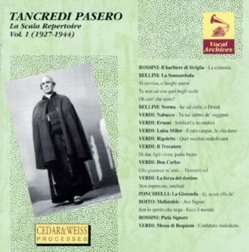 Tancredi Pasero - La Scala Repertoire, Vol. 1 (1927-1944)