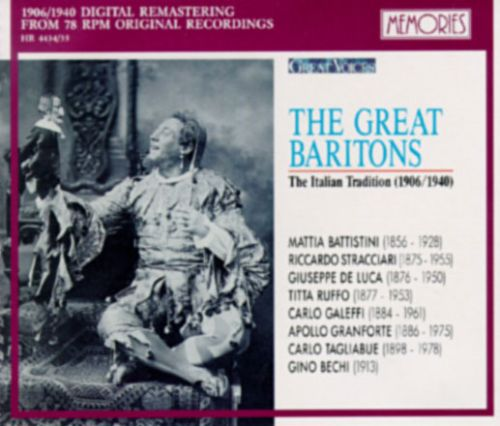 The Great Baritons-The Italian Tradition