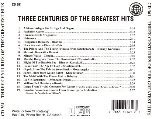 Three Centuries of the Greatest Hits