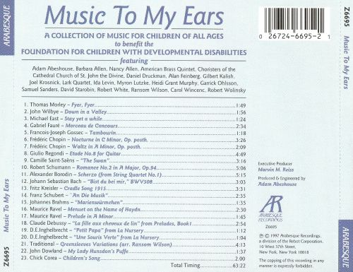Music to My Ears: A Collection of Music for Children of All Ages