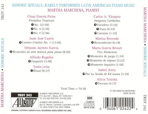 Sonoric Rituals: Rarely Performed Latin American Piano Music