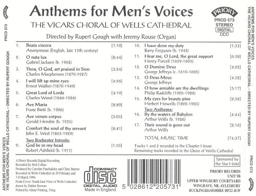 Anthems for Men's Voices