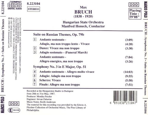 Bruch: Suite on Russian Themes; Symphony No.3