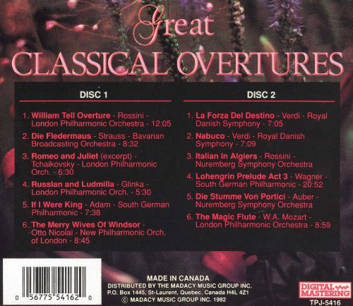 Great Classical Overtures (Box Set)