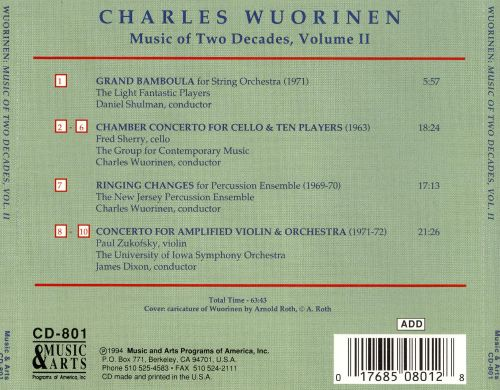 Charles Wuorinen: Music of Two Decades, Vol. 2