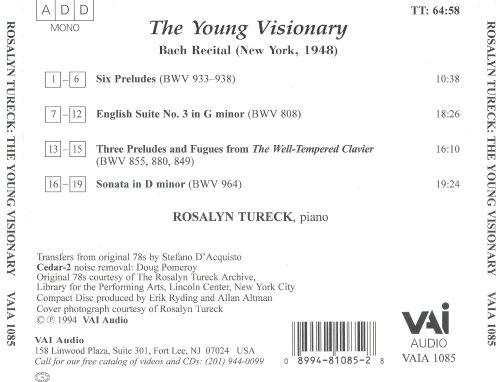 The Young Visionary: Bach Recital, New York, 1948