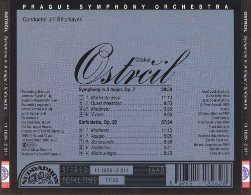 Otakar Ostrcil: Symphony in A major; Sinfonietta