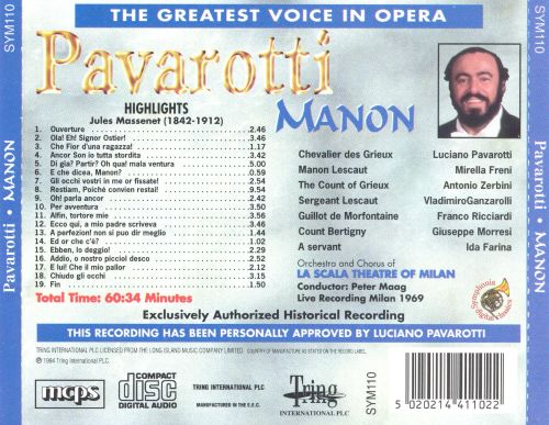 The Greatest Voice in Opera: Highlights from Manon