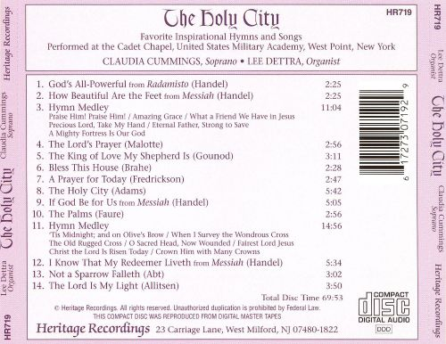 The Holy City: Favorite Inspirational Hymns and Songs