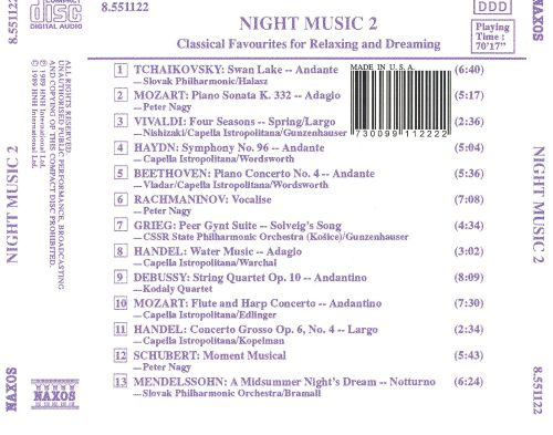 Night Music 2: Classical Favourites for Relaxing and Dreaming
