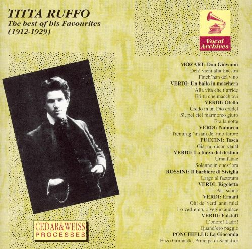 Titta Ruffo: The Best Of His Favourites, 1912-1929