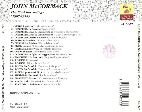 John McCormack: The First Recordings (1907-1914)