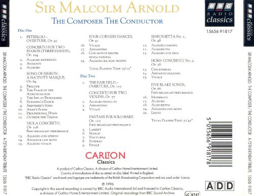 Sir Malcolm Arnold: The Composer, The Conductor