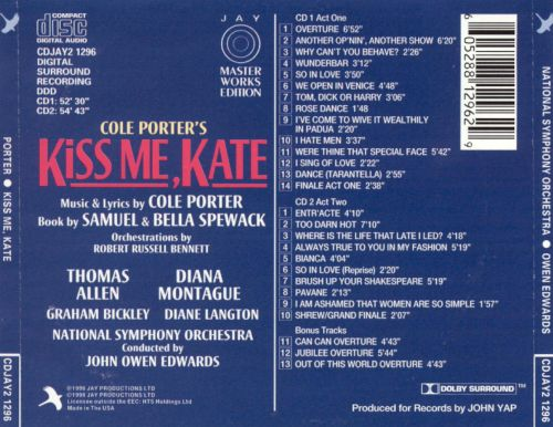 Kiss Me, Kate [1993 Studio Cast]