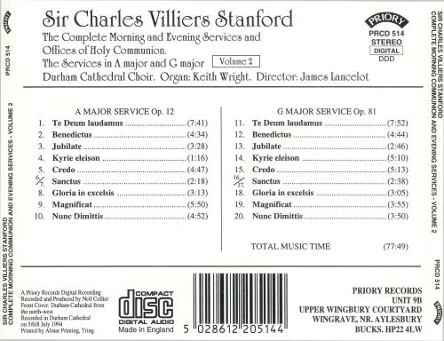 Sir Charles Villiers Stanford: The Complete Morning and Evening Services, Vol. 2