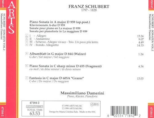 Schubert: Sonaten, Vol. 2
