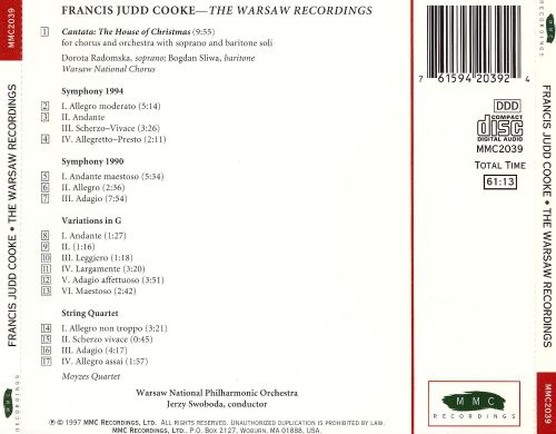Francis Judd Cooke: The Warsaw Recordings