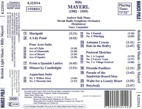 British Light Music: Billy Mayerl