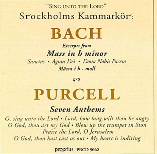 Sing unto the Lord: Bach, Purcell