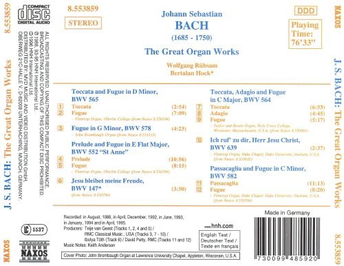 J.S. Bach: The Great Organ Works