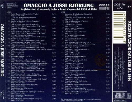 Omaggio a Jussi Björling