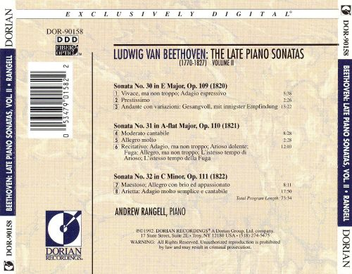Beethoven: The Late Piano Sonatas, Vol. 2