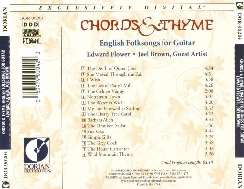 Chords & Thyme: English Folksongs for Guitar - Joel Brown, Edward ...