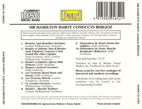 Sir Hamilton Harty Conducts Berlioz