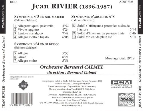 Rivier: Symphonies for Strings