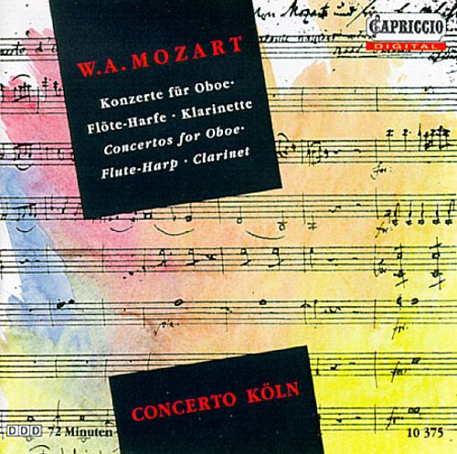 Mozart: Concertos for Flute, Harp and Clarinet