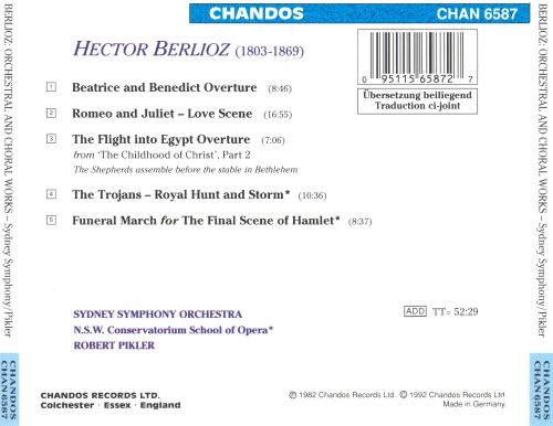 Hector Berlioz: Beatrice and Benedict Overture; Royal Hunt and Storm from The Trojans; etc.