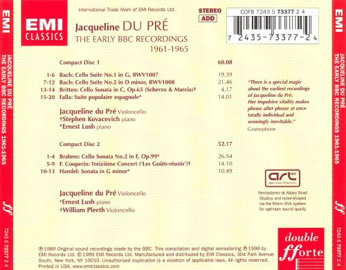 Jacqueline Du Pré: The Early BB Recordings 1961-1965