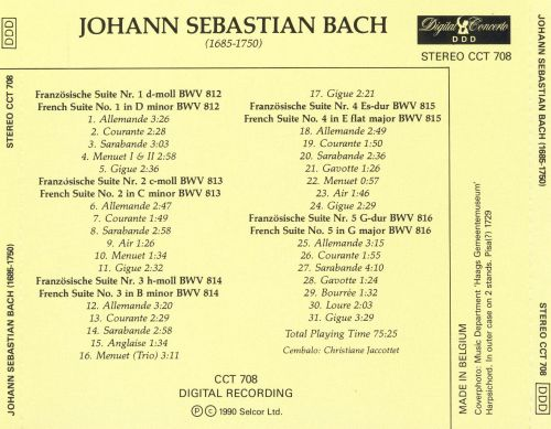 Bach: Complete Works for Harpsichord, Vol. 8