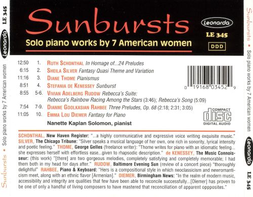 Sunbursts: Solo Piano Works by 7 American Women