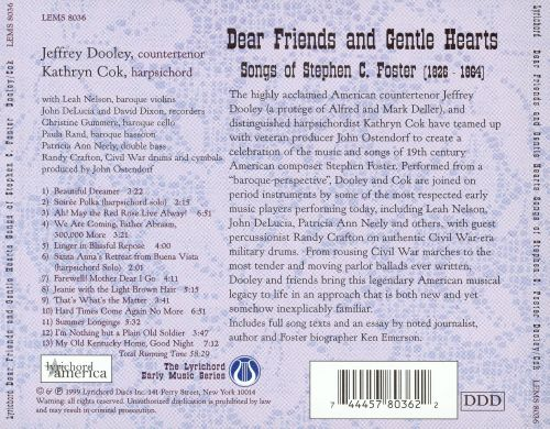 Dear Friends and Gentle Hearts: Songs of Stephen C. Foster