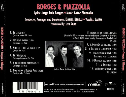 Borges by Piazzolla: Tangos & Milongas