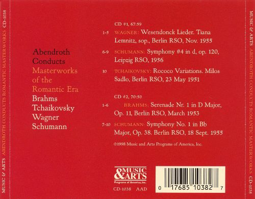 Abendroth Conducts Masterworks of the Romantic Era